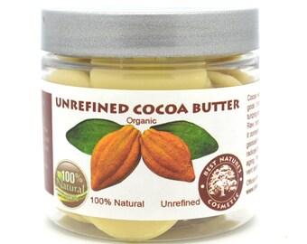 Pure Natural Cocoa Butter Organic Wafers Unrefined