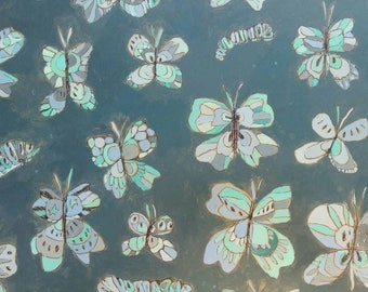 Butterfly Pattern Jennifer Mercede painting 14x20in 'A Series of Flies'