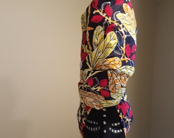 African Head Wrap, Vlisco Black/Red/Yellow African Print Fabric Head Wrap, African Scarf, Turban, Ankara Head Wrap, Gele