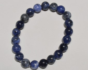 Jewelry - Bracelet Sodalite 8 mm - Natural sodalite bead bracelet