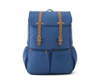 Diaper bag Backpack, Backpack, Bag, School Backpack, Mom & Dad Diaper Backpack, Travel Backpack, College Backpack, BLUE NYLON / CARRYALL