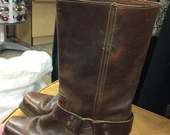 Brown Western Soft Leather Boots Size 8 1/2