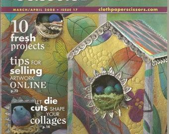 Cloth Paper Scissors.  March/April 2008
