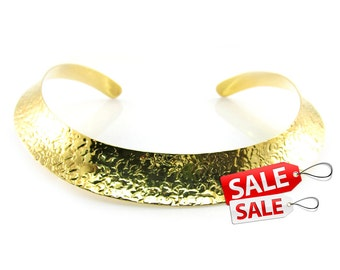 Gold Choker Nacklace Gold Collar Necklace Hammered Gold Necklace Brass Choker Necklace Gold Brass Necklace Gold Hammered Necklace 080