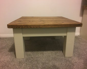 Coffee Table made from reclaimed timber painted Offwhite ***STOCK CLEARANCE***