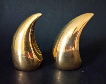 Vintage Porcelain Golden Salt Pepper Shakers Made In England.