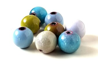 Enameled Copper 8mm Round Beads