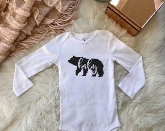 baby bear onesie birth announcement unique gift onsie