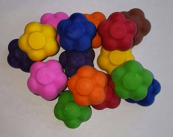 Flower Crayons - Set Of 4 - Kids Party - Goody Bags - School Gifts - Birthday Party