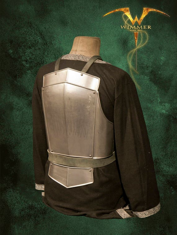 Metal Armor for LARP-militia-armor for men-collar-heavy, manual work