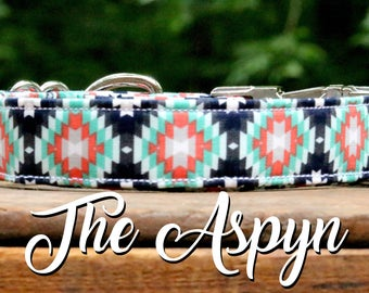 Dog Collar Tribal, Aztec Dog Collar, Southwest Style Dog Collar, Hipster Dog Collar, Southwestern Style, Dog Collar, Girl Dog Collar