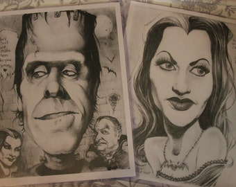 Munsters caricature art 2-pack