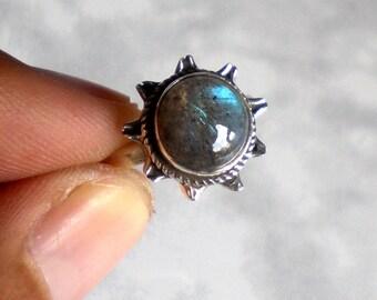 Labradorite Ring , 925 Sterling silver ring , Labradorite Silver ring , Handmade Jewellery