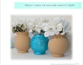 Table Centerpiece Lot, Table Vases Bulk, Custom Centerpieces, Custom Party Decor, Custom Wedding Decor, Tan Wedding Decor, Blue Table Decor