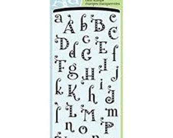 "Inkadinkado-Gemstone Alphabet Clear Stamp Set- 4"" x 8"" 72 pieces"