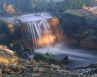 Magical Waterfall - photograph of a local waterfall in Ayr, Scotland