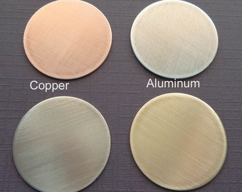 Add-on Disc - Copper Aluminum Nickel Brass Disc - Personalized Disc - Hand-stamped Disc -K75