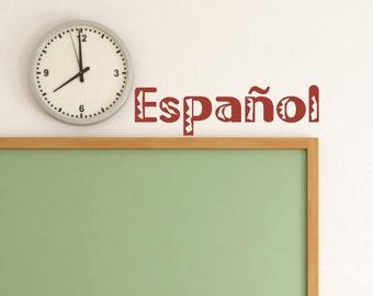 "Spanish Class Decor ""Espanol"" - Spanish Class - Spanish Classroom Decor - Teacher Decoration  - Class Decor - Teacher Decoration"