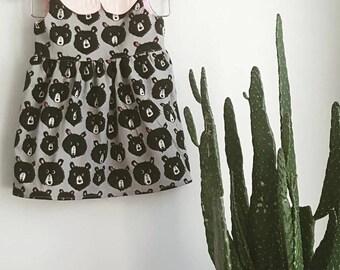 Goldie Dress - Baby, Toddler, Child, Girl, Fairy Tale, Goldilocks, Bears, Whimsical, Fall Dress, Fall, Woods, Boho, Modern
