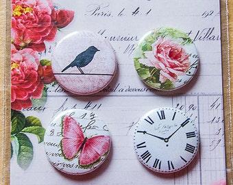 Lemoncraft Heart Painted Buttons / Badges