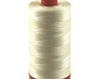 Aurifil Cotton Mako Thread 50 wt - BUTTER - 1422 yd Orange Spool - #2123