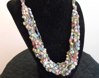 Pastel Crochet Necklace Item No. 128 B E