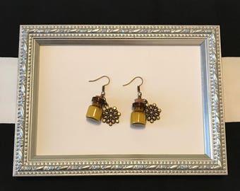 Earrings Steampunk Snowflakes