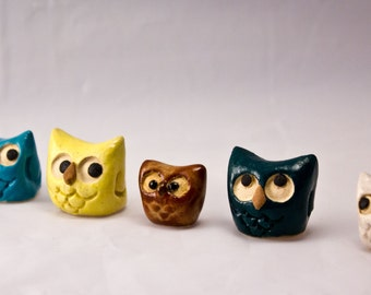 2 Miniature Owls - Made to order