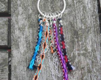 Necklace silver, weaves Peru ethnic, colorful weavings, dream dreams, handmade, unique Piece