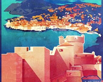 Retro styled print designs of the beutiful city's in Croatia.  - Dubrovnik