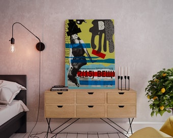 Wall art collage canvas print image - Opinion