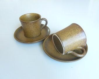 Sweden coffee mug with a saucer. Set of 2