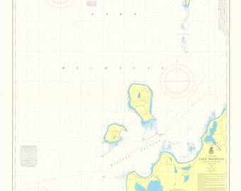 Lake Michigan Map - Platte Bay to Leland - Chart 705 - 1970