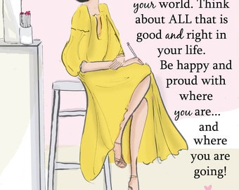 Think About All That is Good and Right - Heather Stillufsen -  Wall Art and Cards for Women