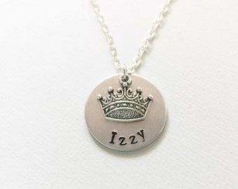 Princess necklace, princess crown, princess gift, girl gift, birthday gift, gift for daughter, gift for niece, gifts for sister