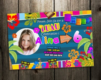 luau invitation birthday party
