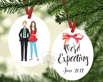 Personalized We're Expecting Ornament, Expecting Ornament, We're Expecting Christmas Ornament, Expecting Baby Ornament, Pregnancy Ornament