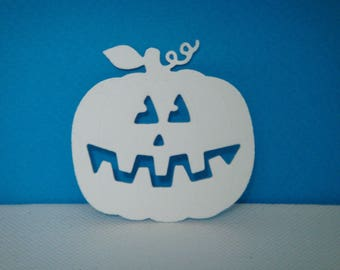 Cut out pumpkin space for creation white drawing paper