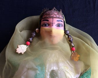 Rare Vintage Celluloid Doll, Berber of the Maghreb - 1940
