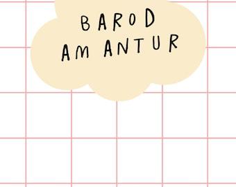 Barod Am Antur Welsh Text  Ready for a Adventure Digital Art Print A4