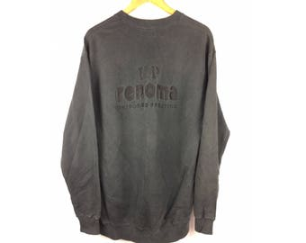 UP RENOMA Uniforme Prestige Long Sleeve Sweatshirt Pull Over Large Size Sweatshirt With Big Spell Out Embroidered Logo