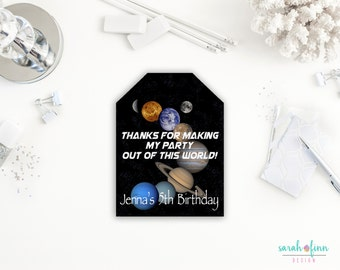 Space Favor Tags, Outer Space, Space Birthday, Printable Favor Tags, Thank You Tags, Astronaut Party, Planet Favor Tags, Space Birthday