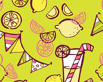 Lemon Squeezy - 1480-40 Lemonade Lime - by Holly Helgeson from Contempo for Benartex