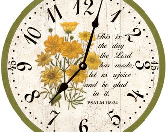 Religious Clock- This Is The Day The Lord Has Made Clock