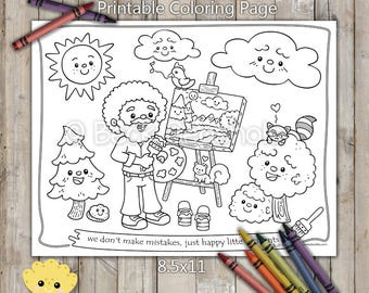 Happy Little Tree Friends Printable Coloring Page