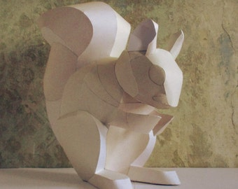 Squirrel Papercraft Booklet - DIY Template