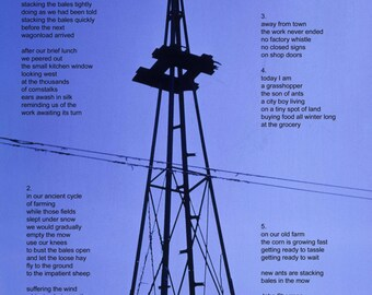 Poetry & photography poster: Multiples on a Hoosier Farm