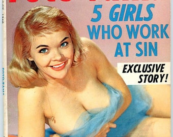 Foto-Rama Magazine  1960  Stripper Candy Barr Cover  Model Colette  Chicks on Junk ( Drugs ) 5 Girls Who Work at Sin  Men Like My Panties