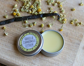 Vanilla Chamomile Lip Balm with Marshmallow Root for Chapped Lips