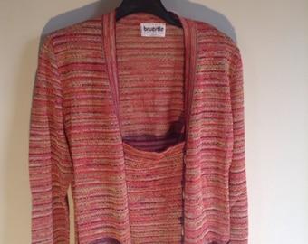 All jacket skirt suit bruestle west germany vintage